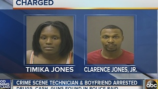 Crime scene technician and boyfriend arrested - Video