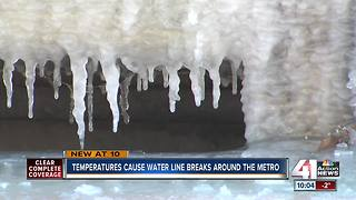 Temperatures cause water line breaks around metro - Video