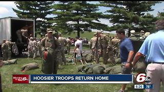 Hoosier troops return home