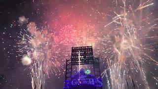 Fireworks illuminate skies over Coors Field - Video
