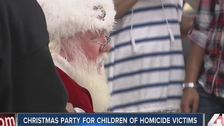 Christmas party for children of homicide victims - Video