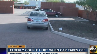 Couple dragged by car after breakdown - Video