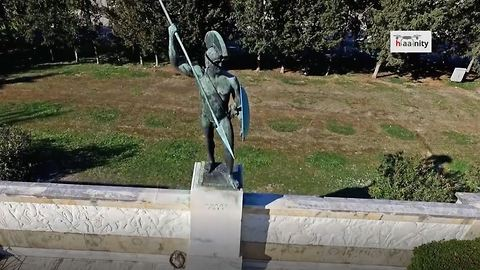 Drone footage where Battle of Thermopylae occurred for 300 Spartans