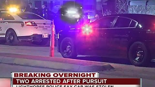 Two people arrested after overnight chase in South Tulsa - Video
