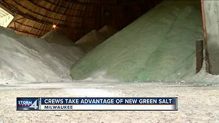 Milwaukee crews use special cold weather salt in frigid temperatures - Video