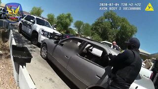 Body camera video shows moments after police shot and killed suspect Saturday