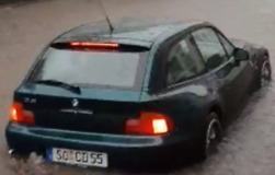 Cars Submerged on German Town's Streets Following Days of Rain - Video