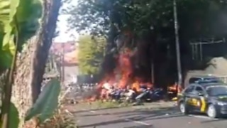 Fire Erupts Near Surabaya Church Blast Sites - Video
