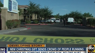 Person fires shots after receiving gun for Christmas - Video
