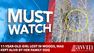 11-year-old girl lost in woods, was kept alive by her family dog - Video
