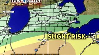Strong storms possible today