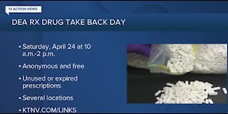 DEA holding its 20th Take Back Day on April 24
