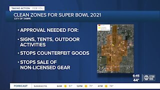 Super Bowl 'Clean Zones' will affect businesses and fans