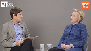 Hillary Clinton Has the Worst Possible Explanation for Why She Shouldn't be Investigated - Video