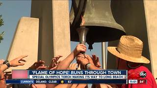 The Flame of Hope runs through Downtown Bakersfield
