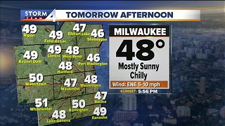 Mostly sunny and cool Wednesday