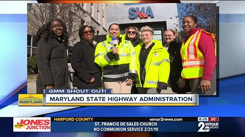 Good morning from the Maryland State Highway Administration!