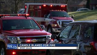 Fire in West Allis sparks a reminder about candles - Video