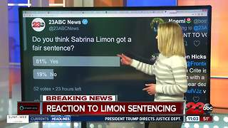 Reaction to Sabrina Limon's sentencing on social media - Video