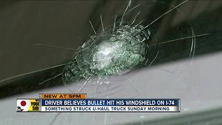 Two drivers report bullets hit their vehicles on Interstate 74 in Green Township - Video