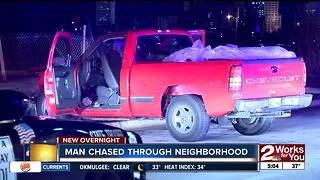 Man leads police on pursuit through neighborhood overnight - Video