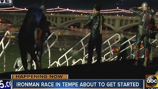 Ironman race gets underway in Tempe - Video