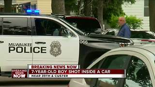 7-year-old shot inside of car on Milwaukee's north side - Video