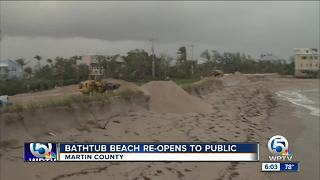 Bathtub Beach reopens to the public - Video