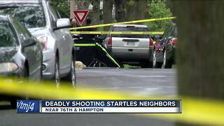 Deadly shooting startles neighbors - Video