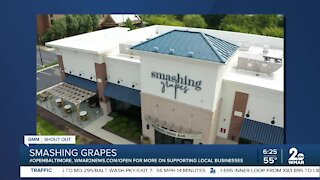 "Smashing Grapes in Annapolis says ""We're Open Baltimore!"""