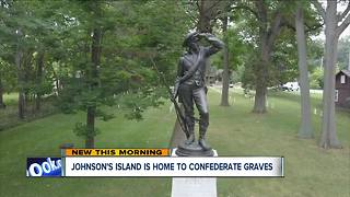 Johnson's Island is home to confederate graves - Video