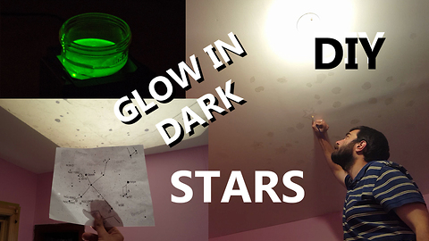 DIY Star Glow In Dark Stars With Constellations
