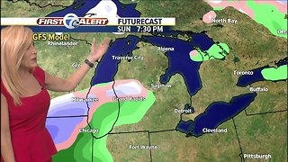 Snow for Monday Morning - Video