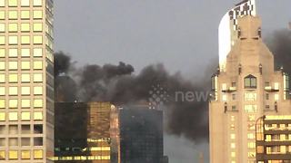 Trump Tower fire sends large plume of smoke into sky above Manhattan - Video