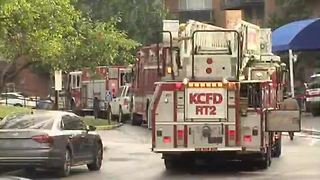 Crews working fire on Harvard Circle in KCMO - Video