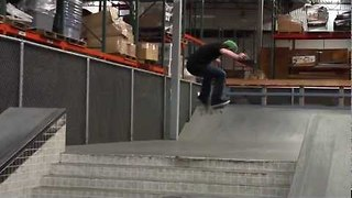 Dude Performs Slick Tricks in Empty Indoor Skatepark - Video