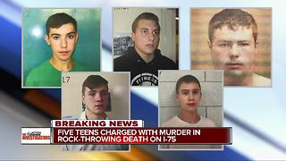 5 teens charged as adults in Genesee County I-75 rock throwing - Video