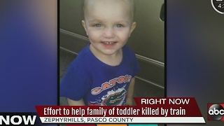 Friends, family mourn toddler killed by train