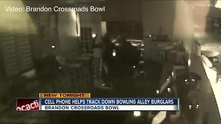 Cell phone helps track down bowling alley burglars