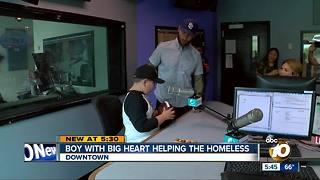 Former Chargers player surprises 10-year-old helping the homeless