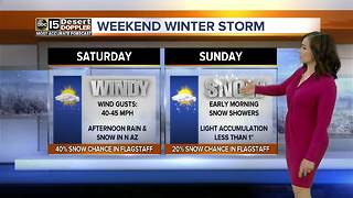 Chance of rain and snow in northern Arizona this weekend - Video