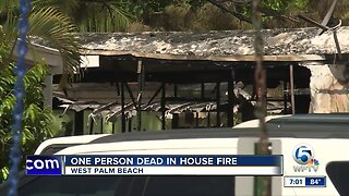 One person dies in mobile home fire in West Palm Beach