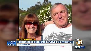 Grandmother dies from flu complications - Video