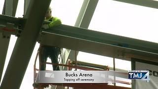 Bucks arena: Topping off ceremony - Video