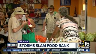 St. Mary's Food Bank hit hard by monsoon storms - Video