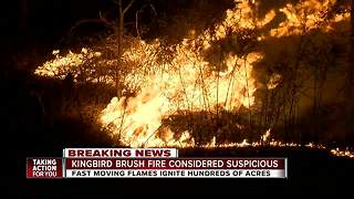 220-acre fire that damaged 3 homes in Hernando County deemed 'suspicious' - Video