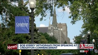 Kerrey rescinds from Creighton commencement as political parties tangle