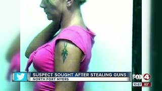Woman suspected of stealing guns identified - Video
