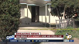 Man breaks into woman's home, steals her car - Video