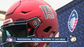 Professional football returns to San Diego - Video
